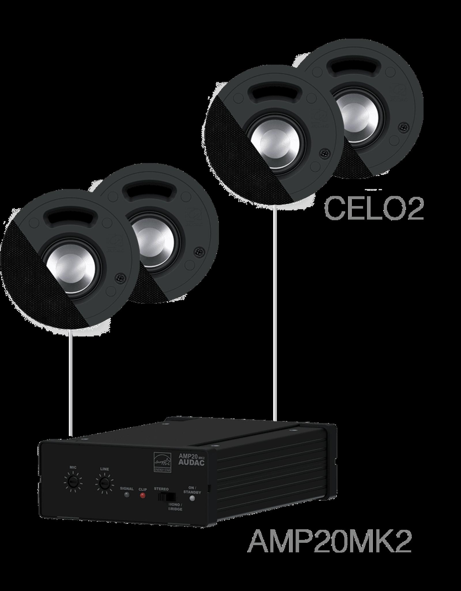 Audac 4 x CELO2 + AMP20 Black version