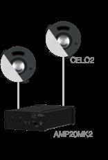 Audac 2 x CELO2 + AMP20MK2 White version