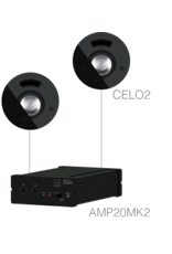 Audac 2 x CELO2 + AMP20MK2 Black version