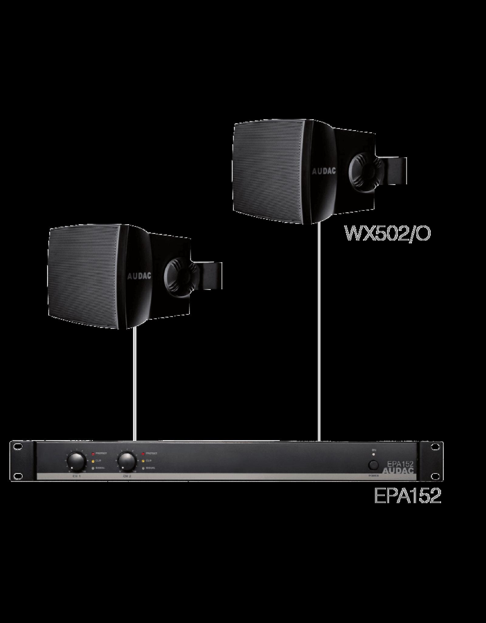 Audac 2 x WX502MK2/O + EPA152 Black