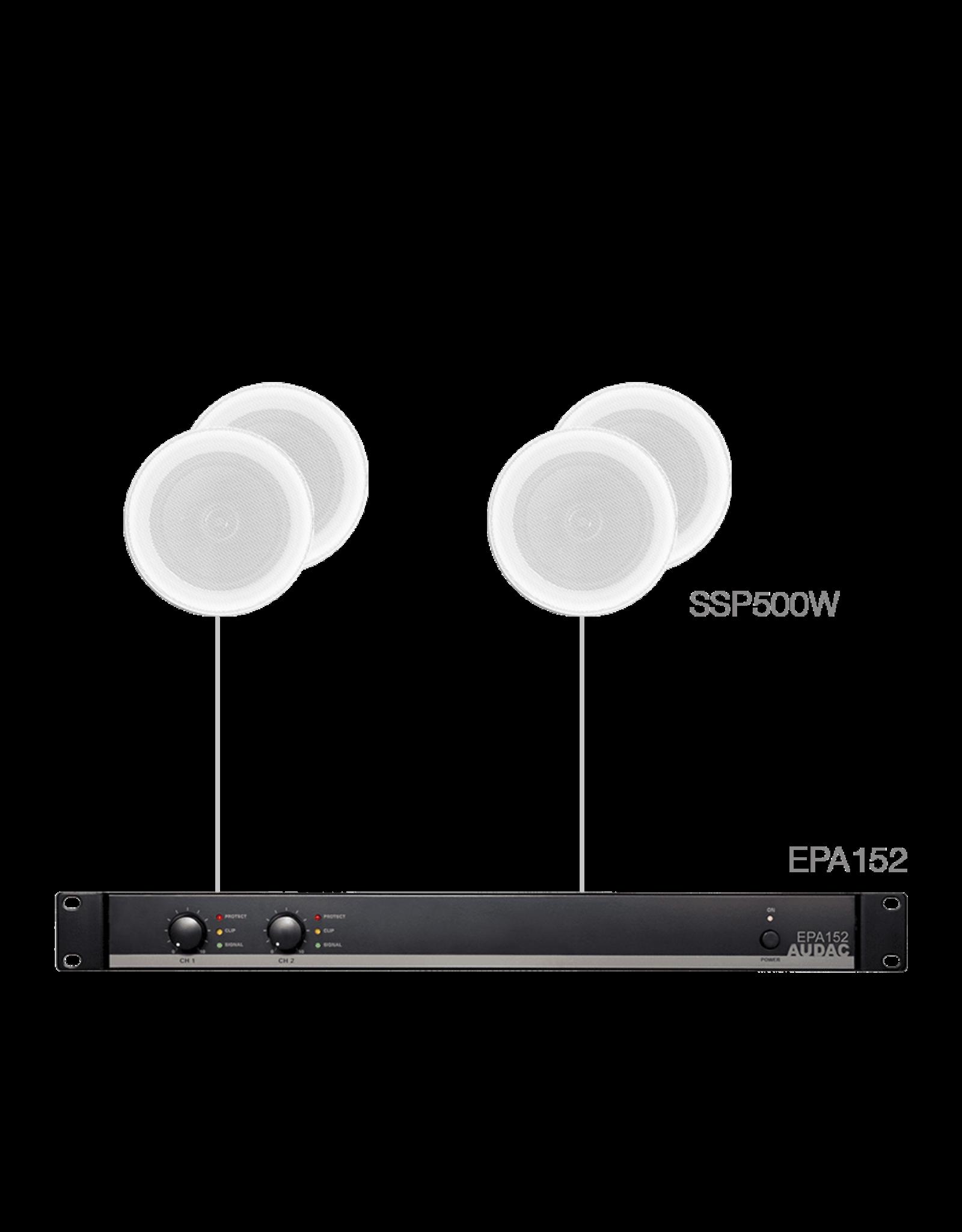 Audac 4x SSP500 + EPA152 White