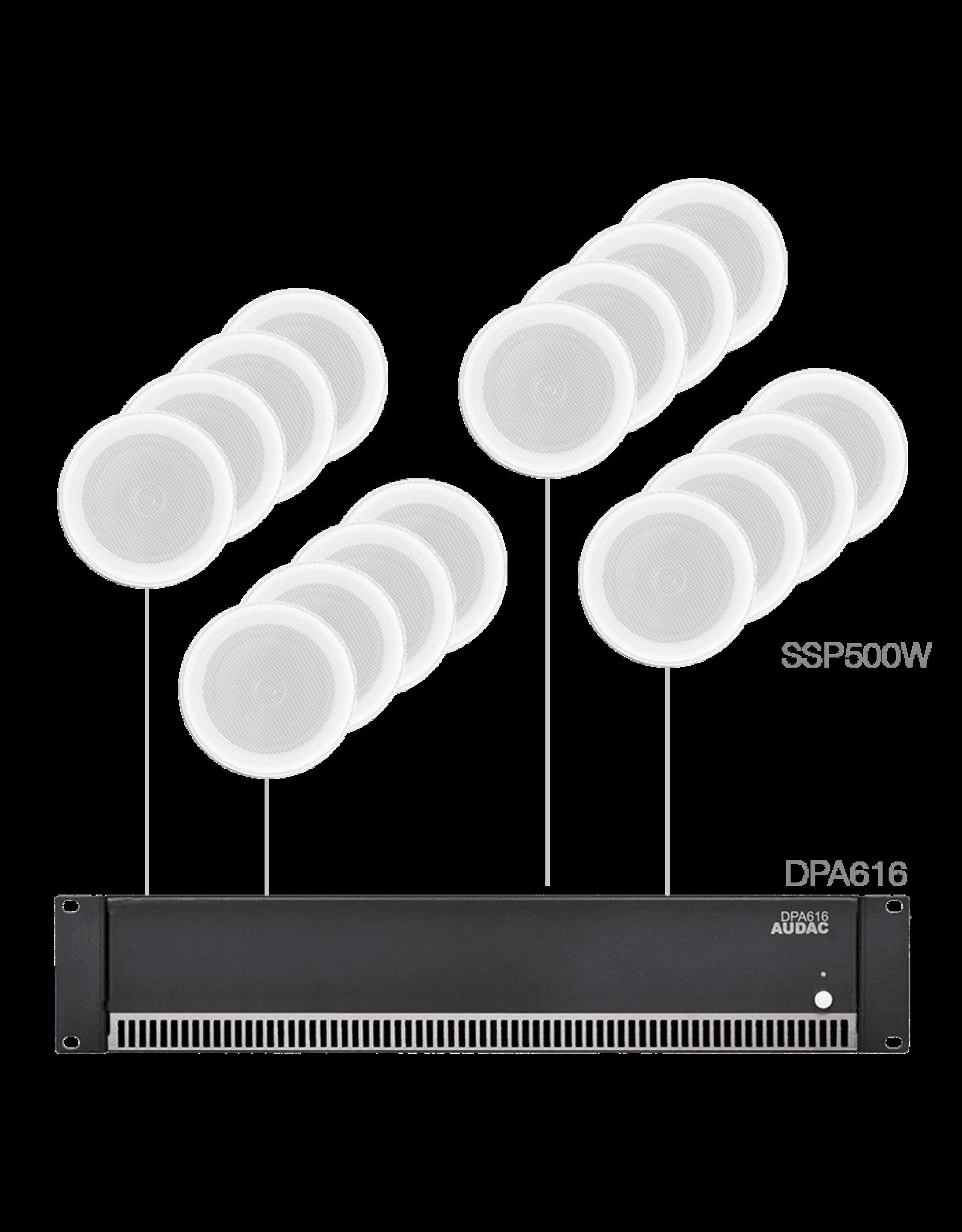 Audac 16x SSP500 + DPA616  White