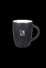 Audac Coal-colored mug with grey AUDAC logo