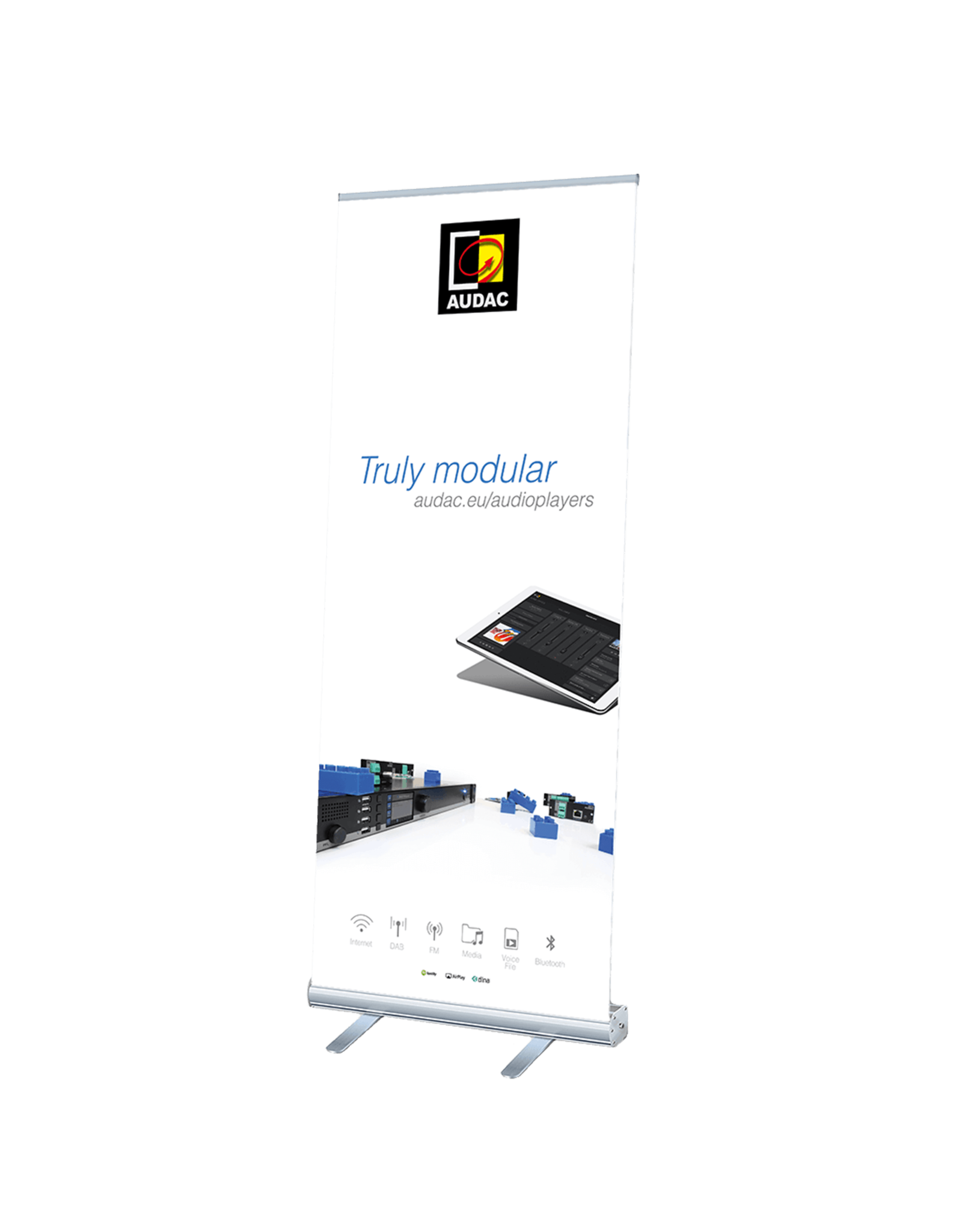 Audac AUDAC audioplayers roll-up display