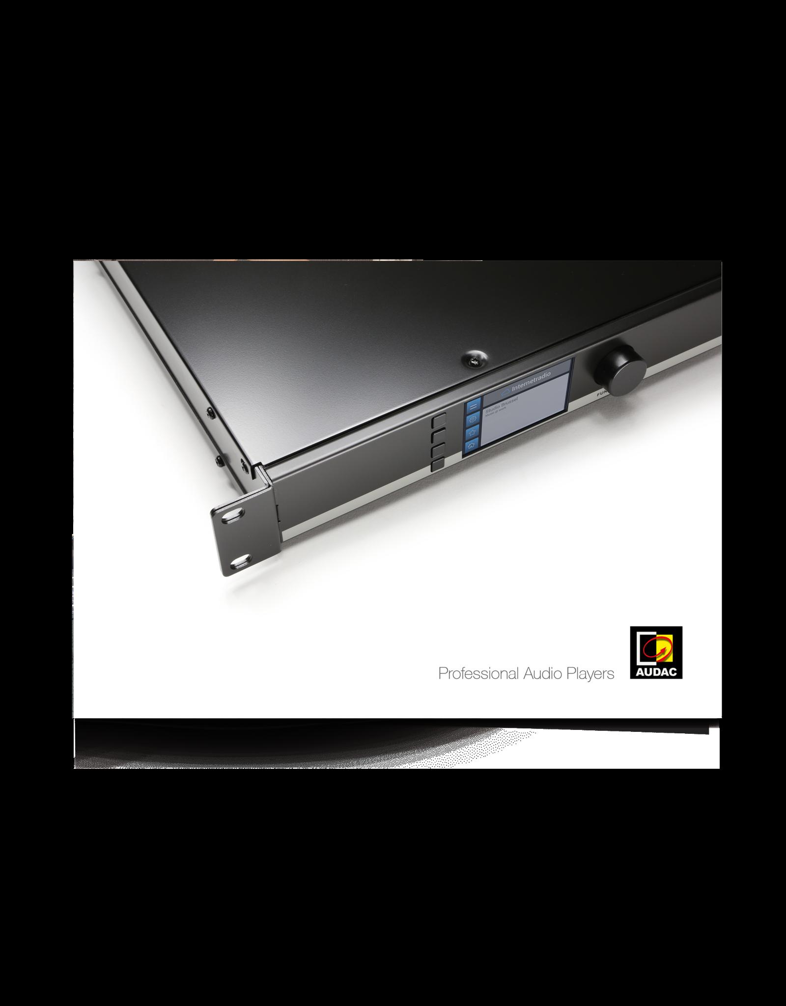 Audac Professional Audio Players catalogue V3.0
