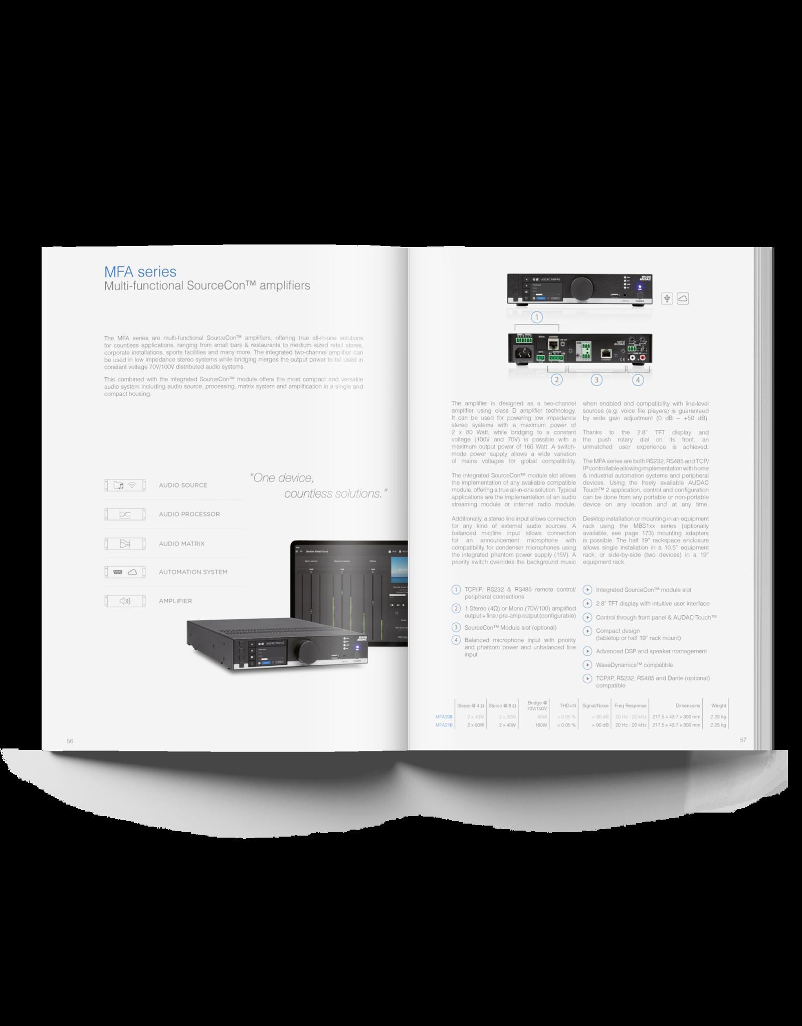 Audac AUDAC Catalogue V1.5