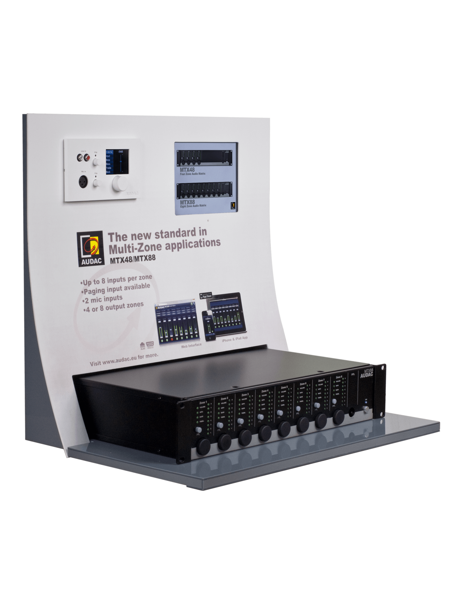 Audac MTX display stand
