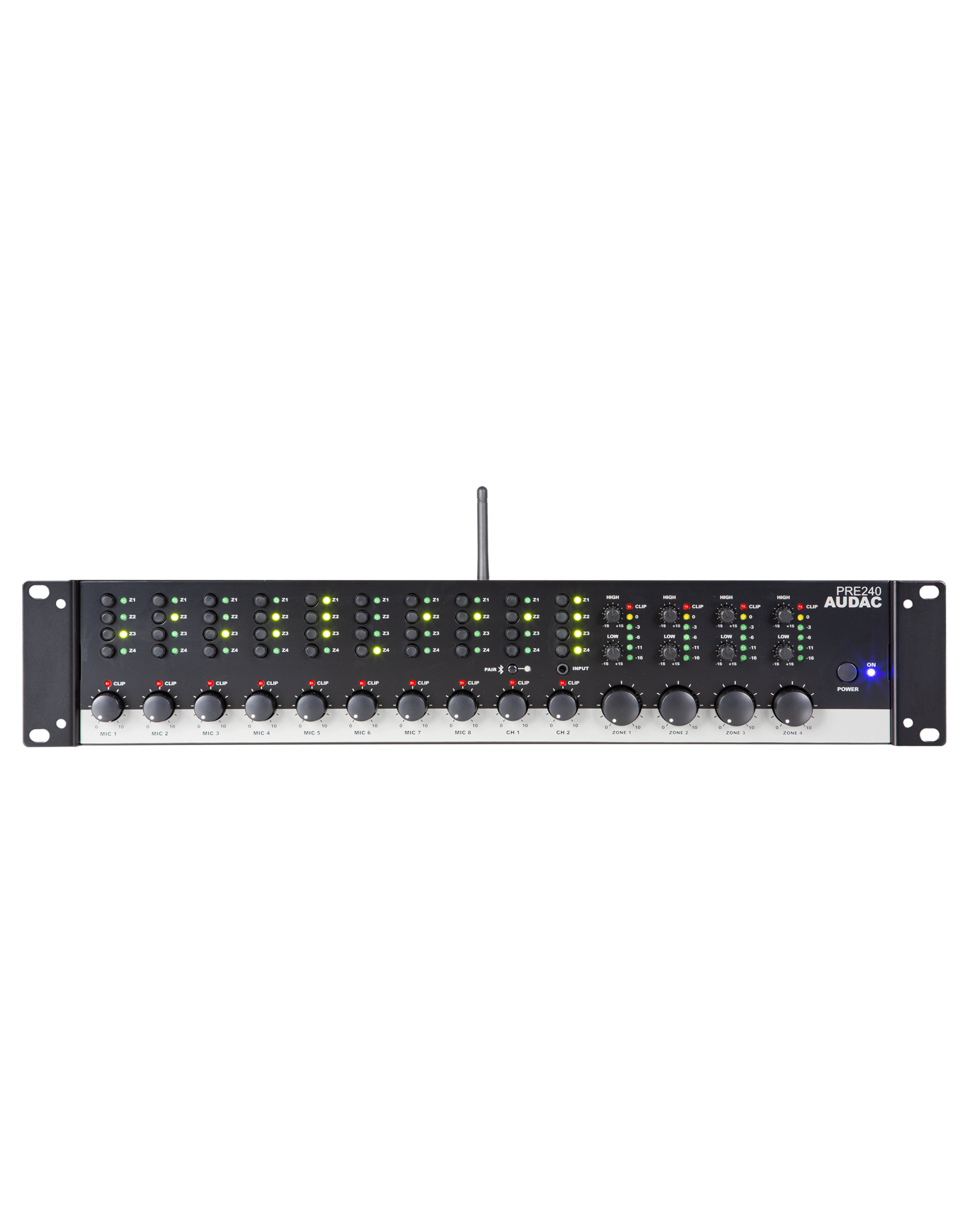 Audac Four zone - 10 Channel stereo preamplifier