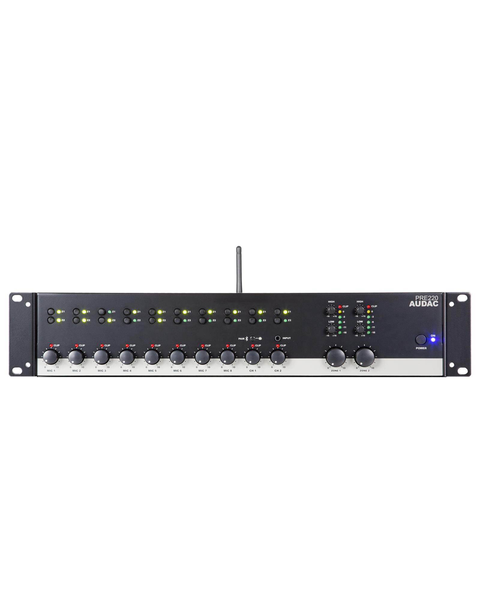 Audac Two zone - 10 Channel stereo pre-amplifier