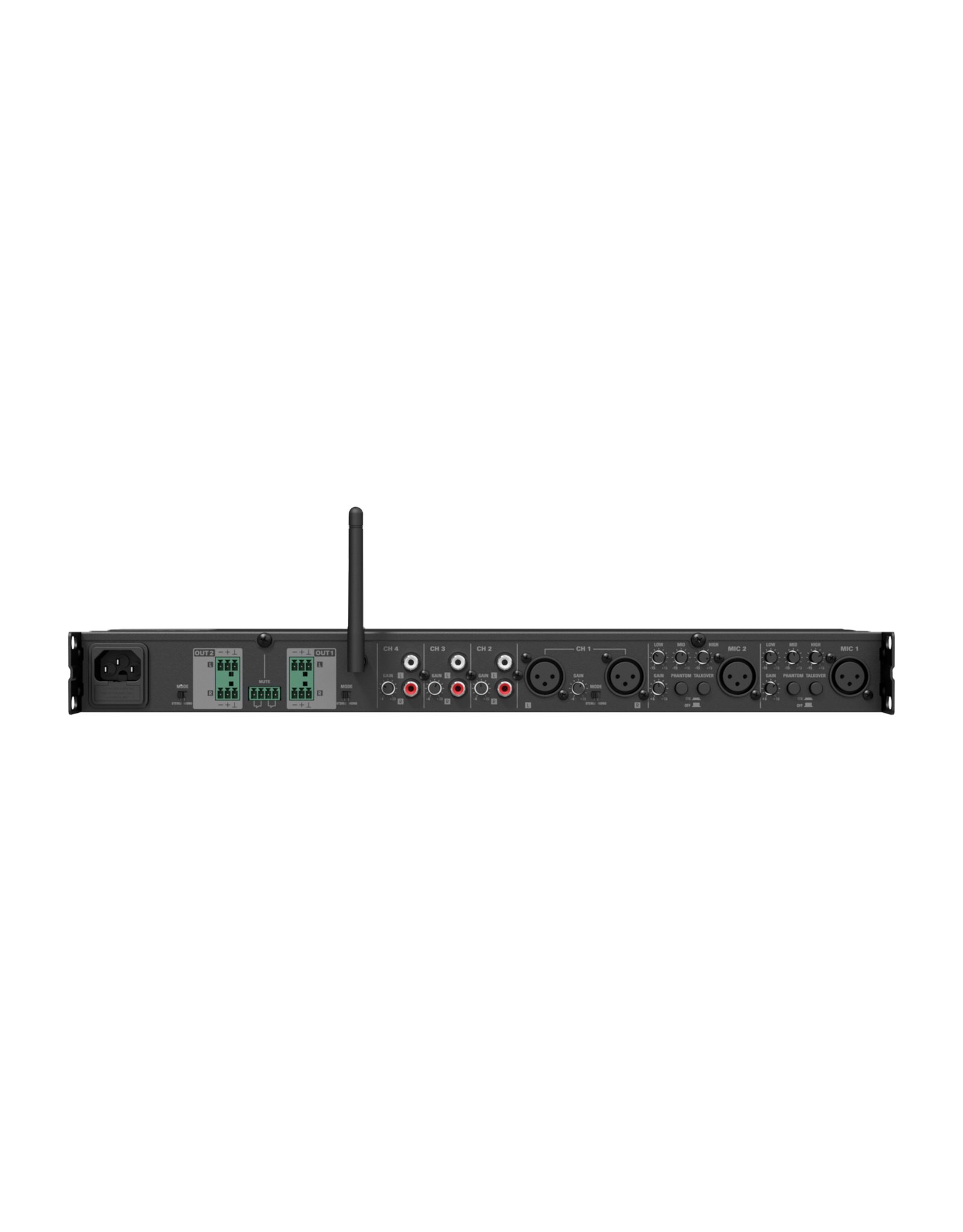 Audac Two zone - 6 Channel stereo preamplifier