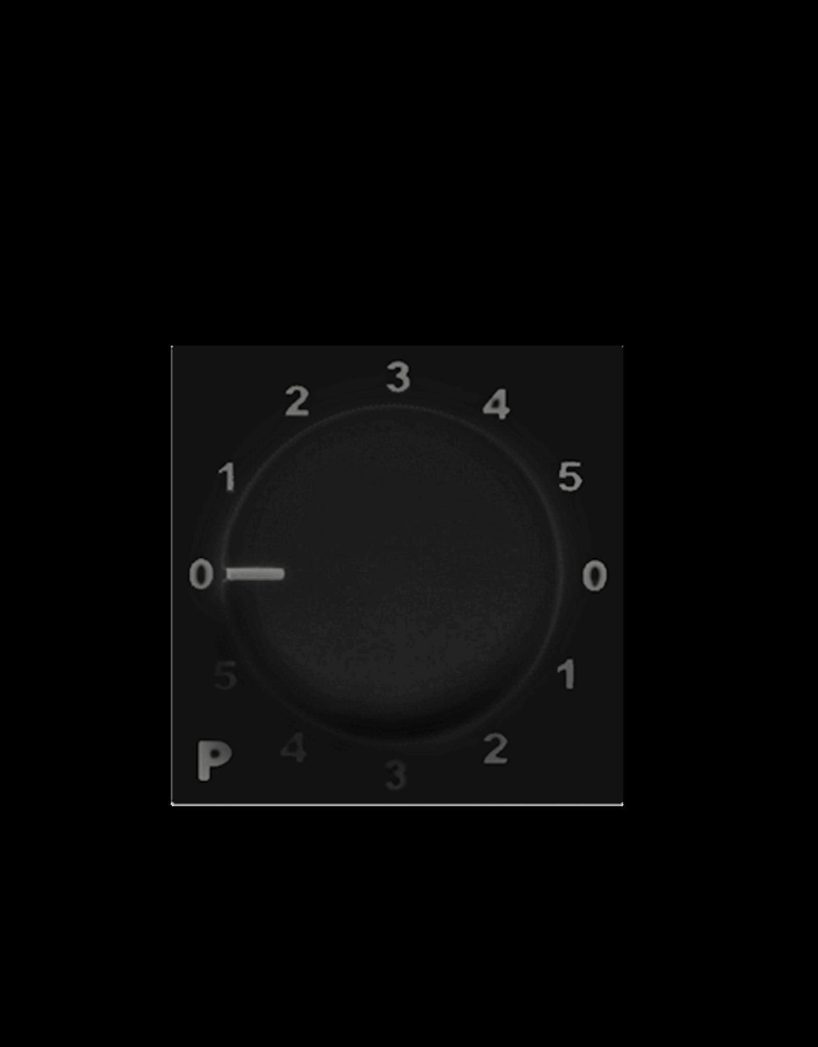 Audac Program selector 45 x 45 mm Black version