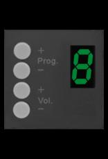 Audac MTX wall panel controller 45 x 45 mm Black version