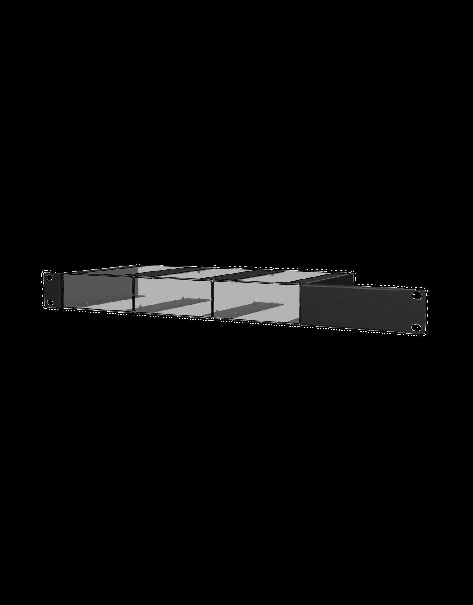 "Audac Setup box installation accessories Mounts three units into a 19"" equipment rack (1 HE)"