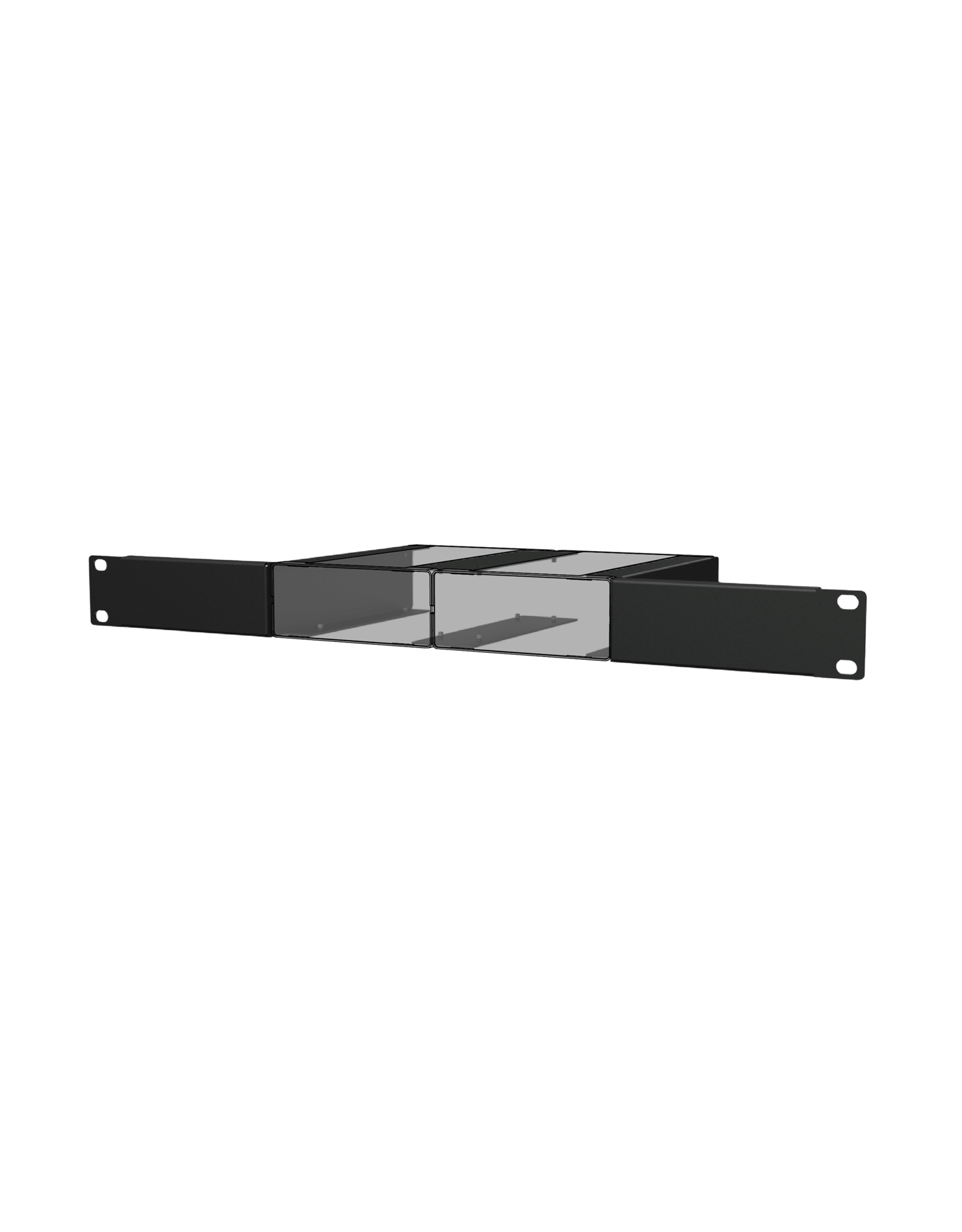 """Audac Setup box installation accessories Mounts two units into a 19"""" equipment rack (1 HE)"""