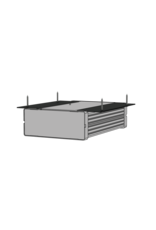 Audac Setup box installation accessories Mounts one unit to a flat surface