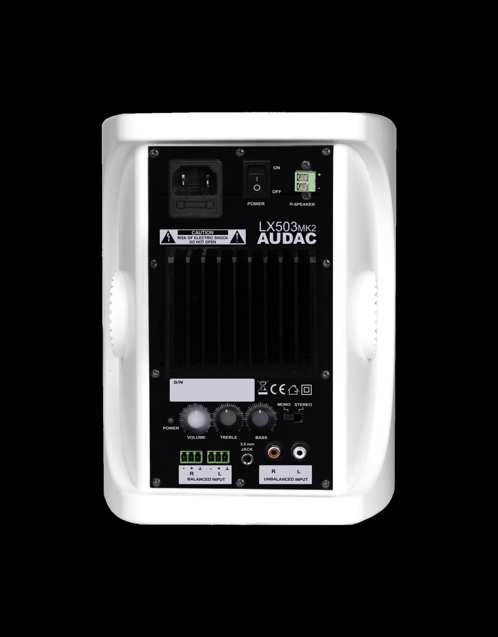 Audac Active speaker system White version