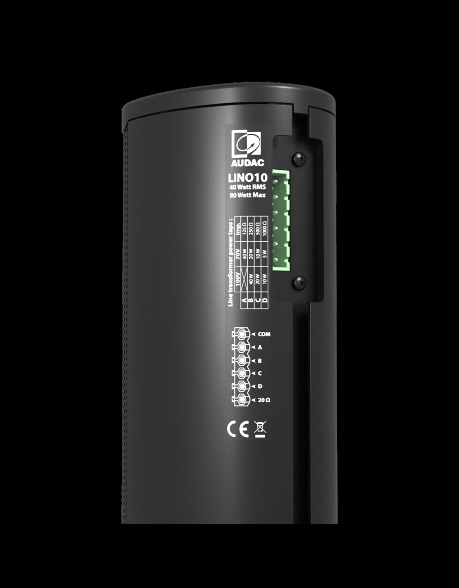 "Audac Column speaker 10 x 2"" Black version"