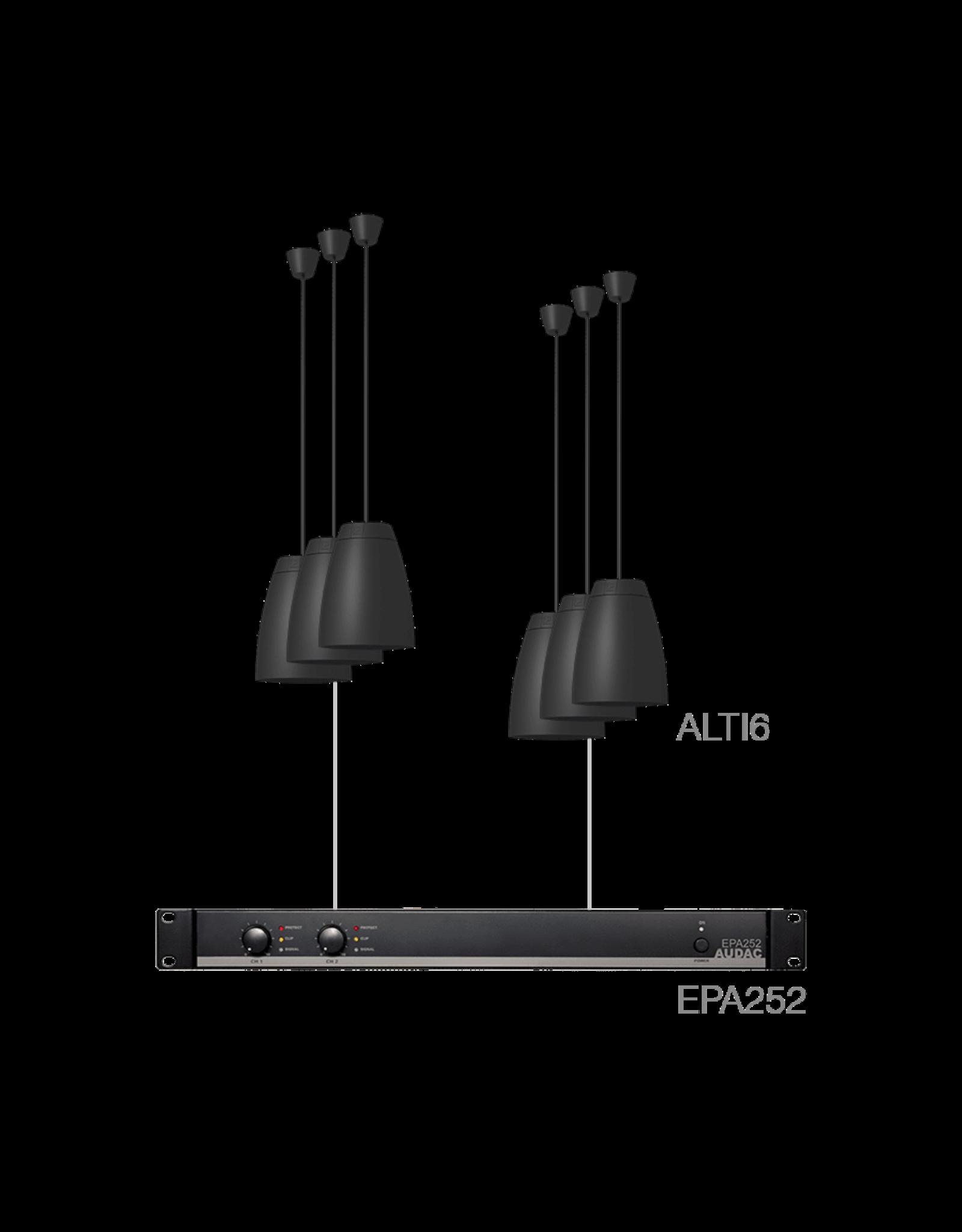 Audac 6 x ALTI6 + EPA252 Black