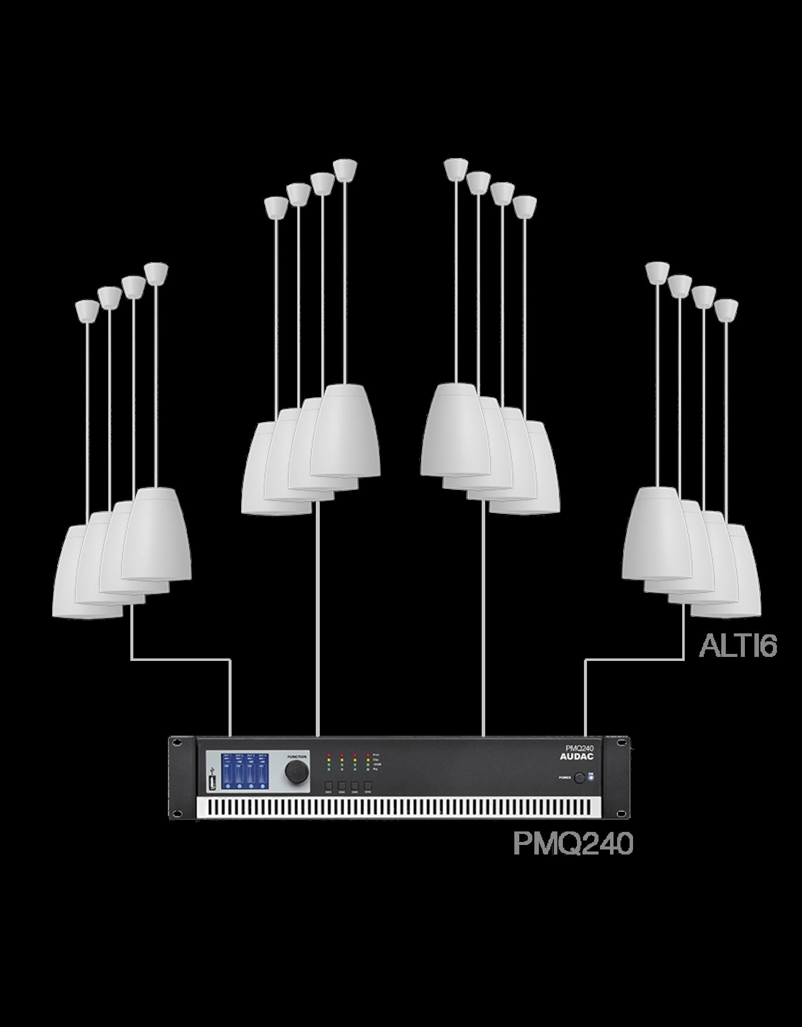 Audac 16 x ALTI6 + PMQ240 White