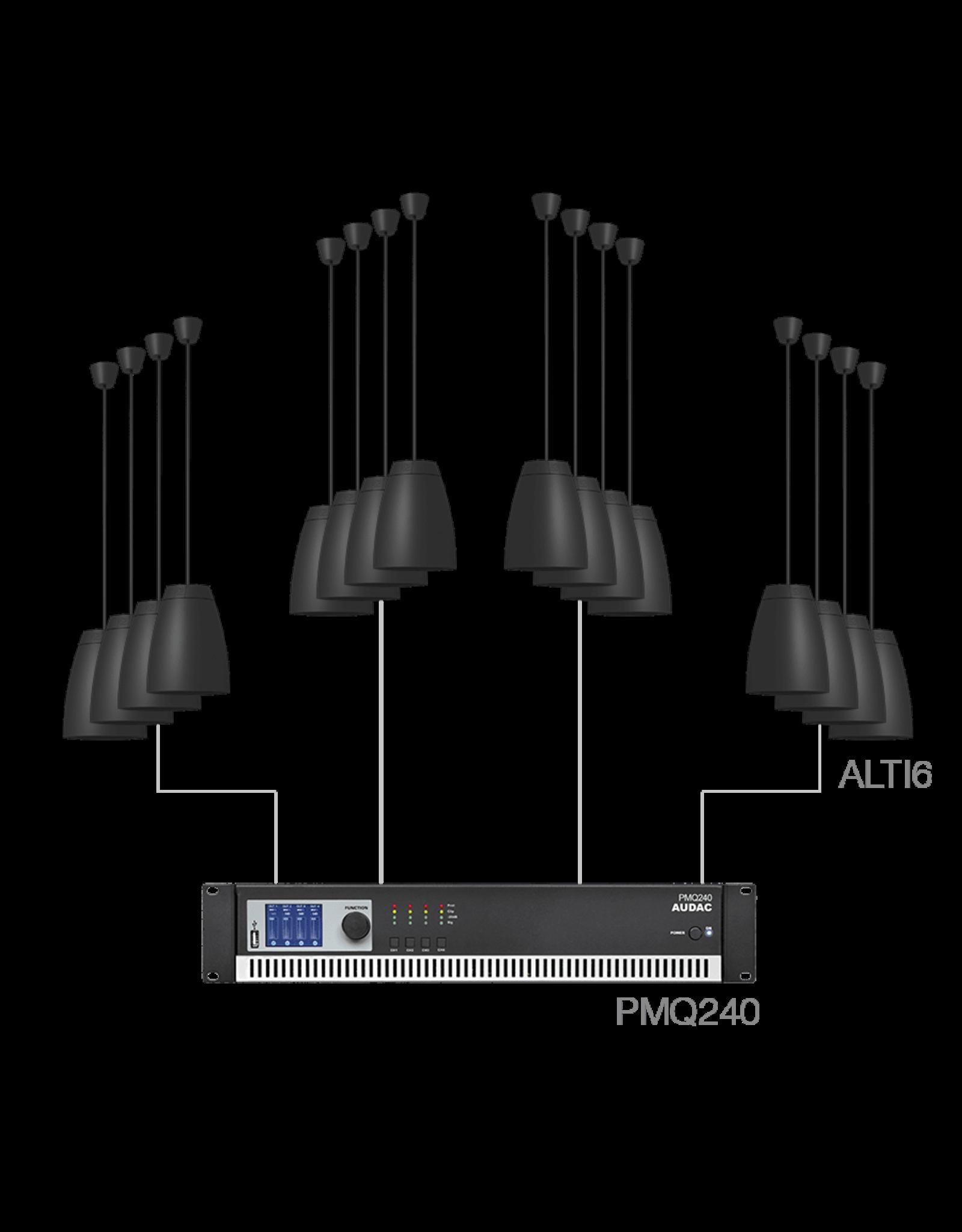 Audac 16 x ALTI6 + PMQ240 Black