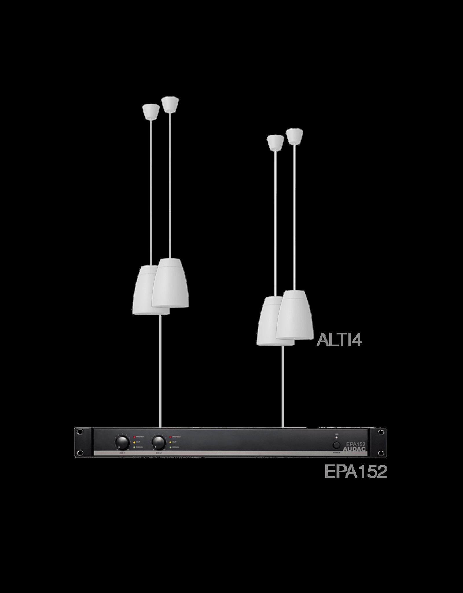 Audac 4 x ALTI4/W + EPA152 White