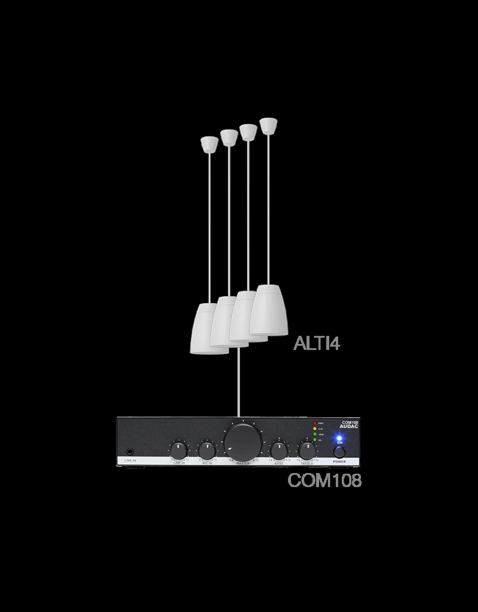 Audac 4 x ALTI4/W + COM108 White