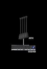 Audac 4 x ALTI4/W + COM108 Black