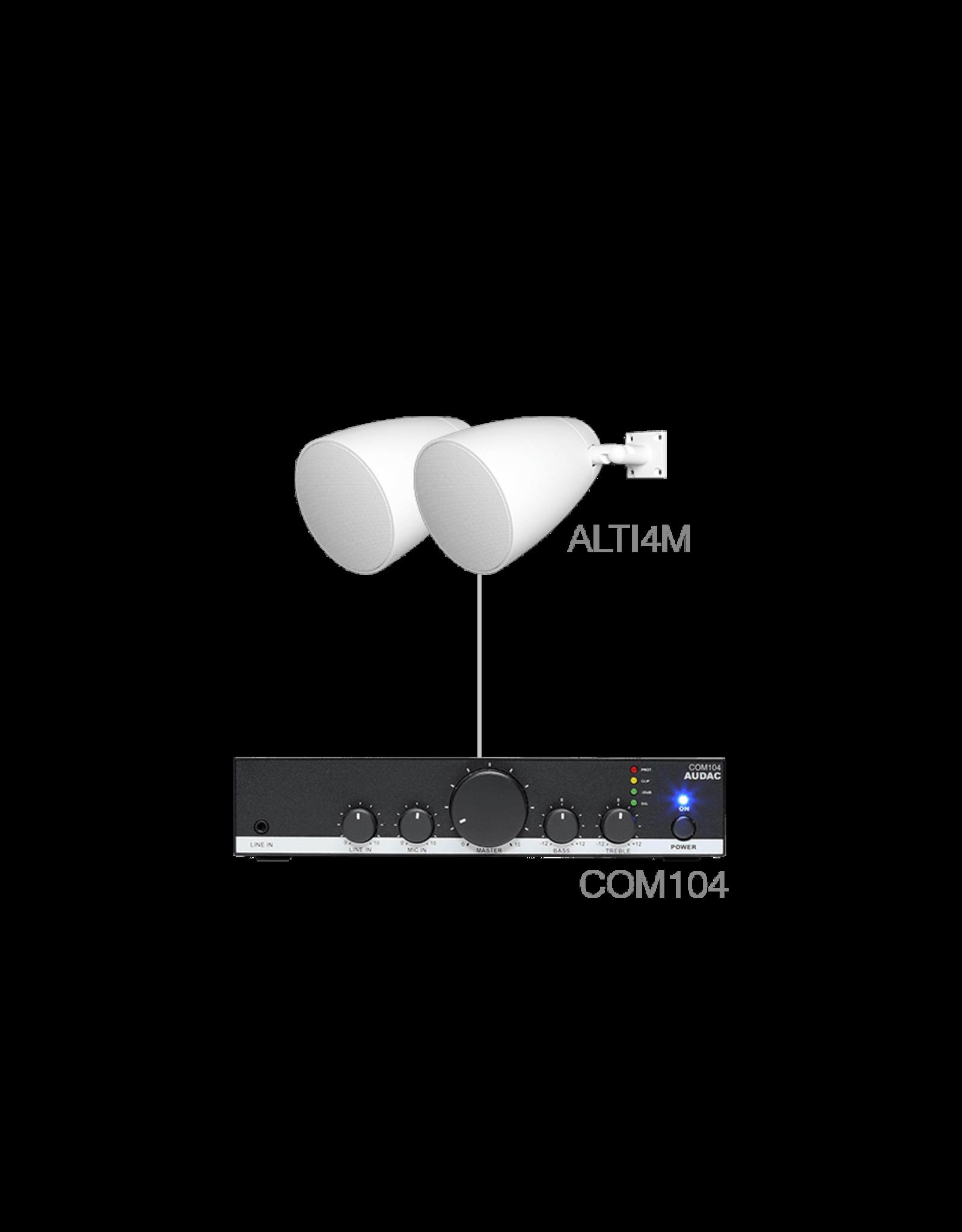 Audac 2 x ALTI4M + COM104 White