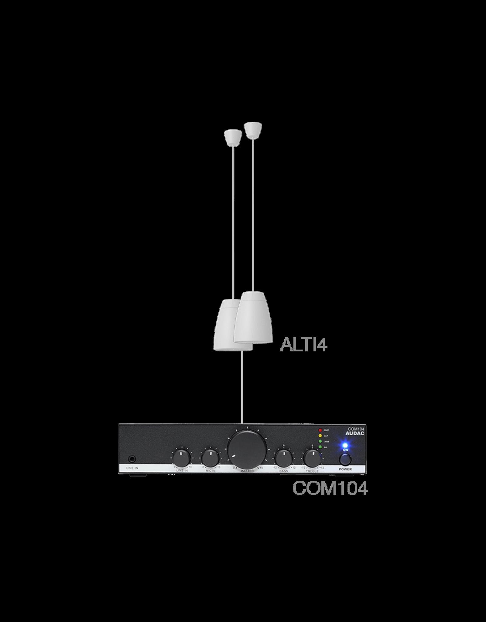 Audac 2 x ALTI4/W + COM104 White
