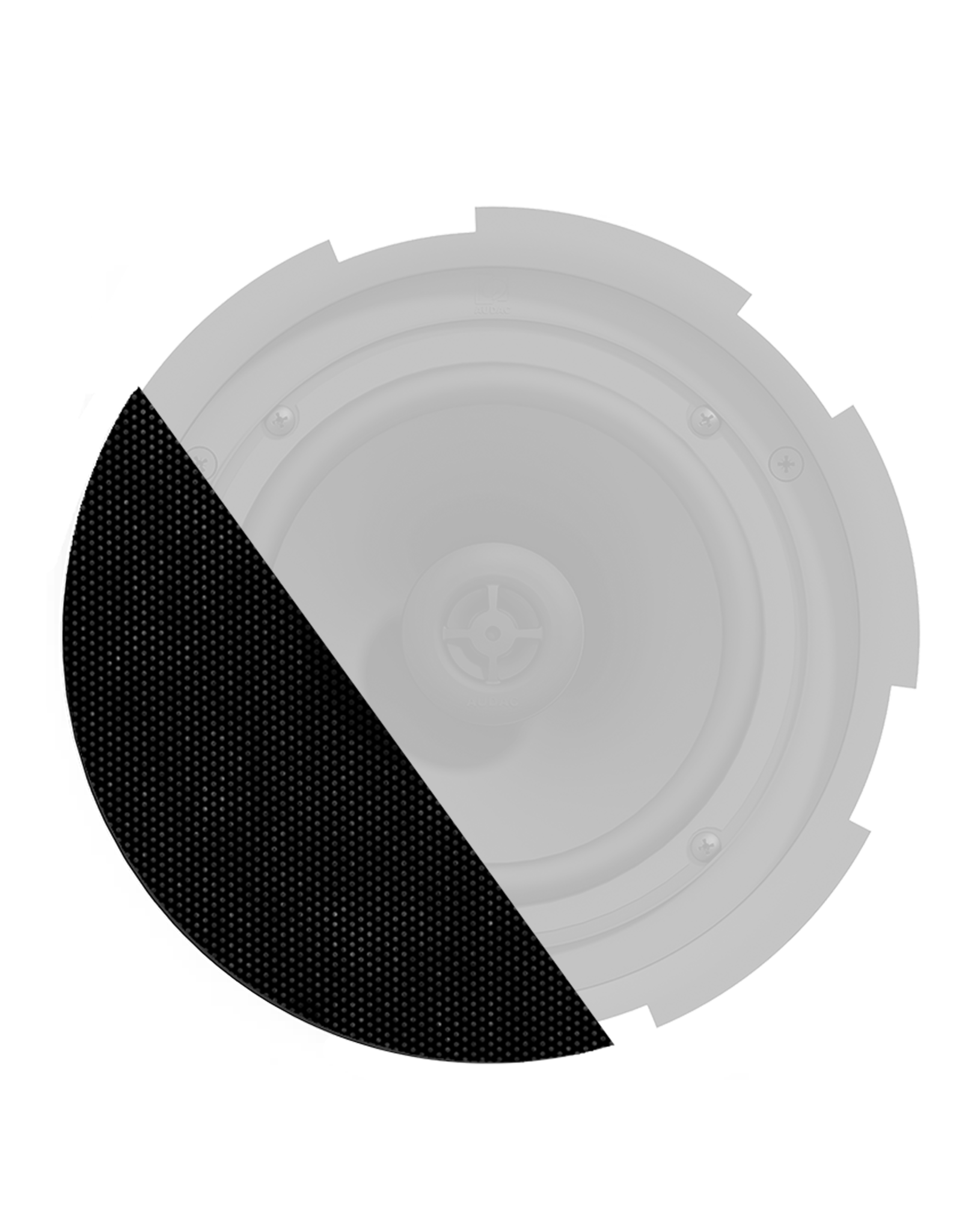 Audac Front grill for CIRA8 series speakers with cloth & outdoor treatment Black version