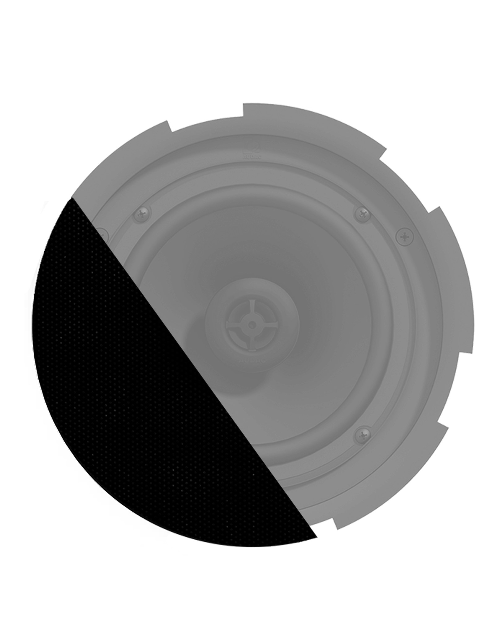 Audac Front grill for CIRA7 series speakers with cloth & outdoor treatment Black version