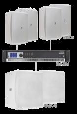 Audac 4 x VEXO8 + 2 x BASO15 + SMQ750 White version