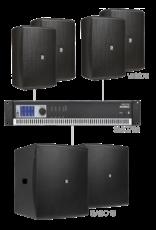 Audac 4 x VEXO8 + 2 x BASO15 + SMQ750 Black version