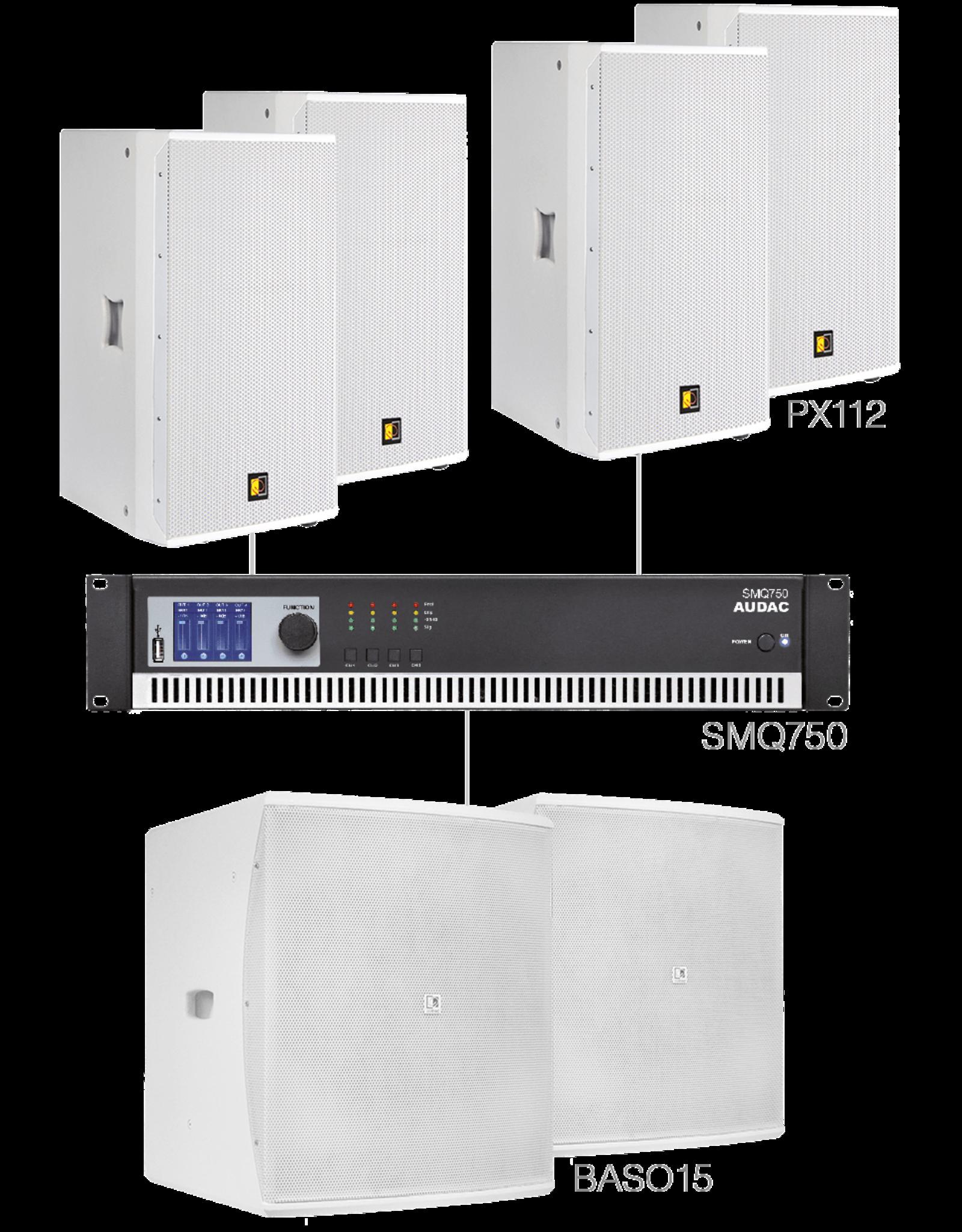Audac 4 x PX112 + 2 x BASO15 + SMQ750 White version