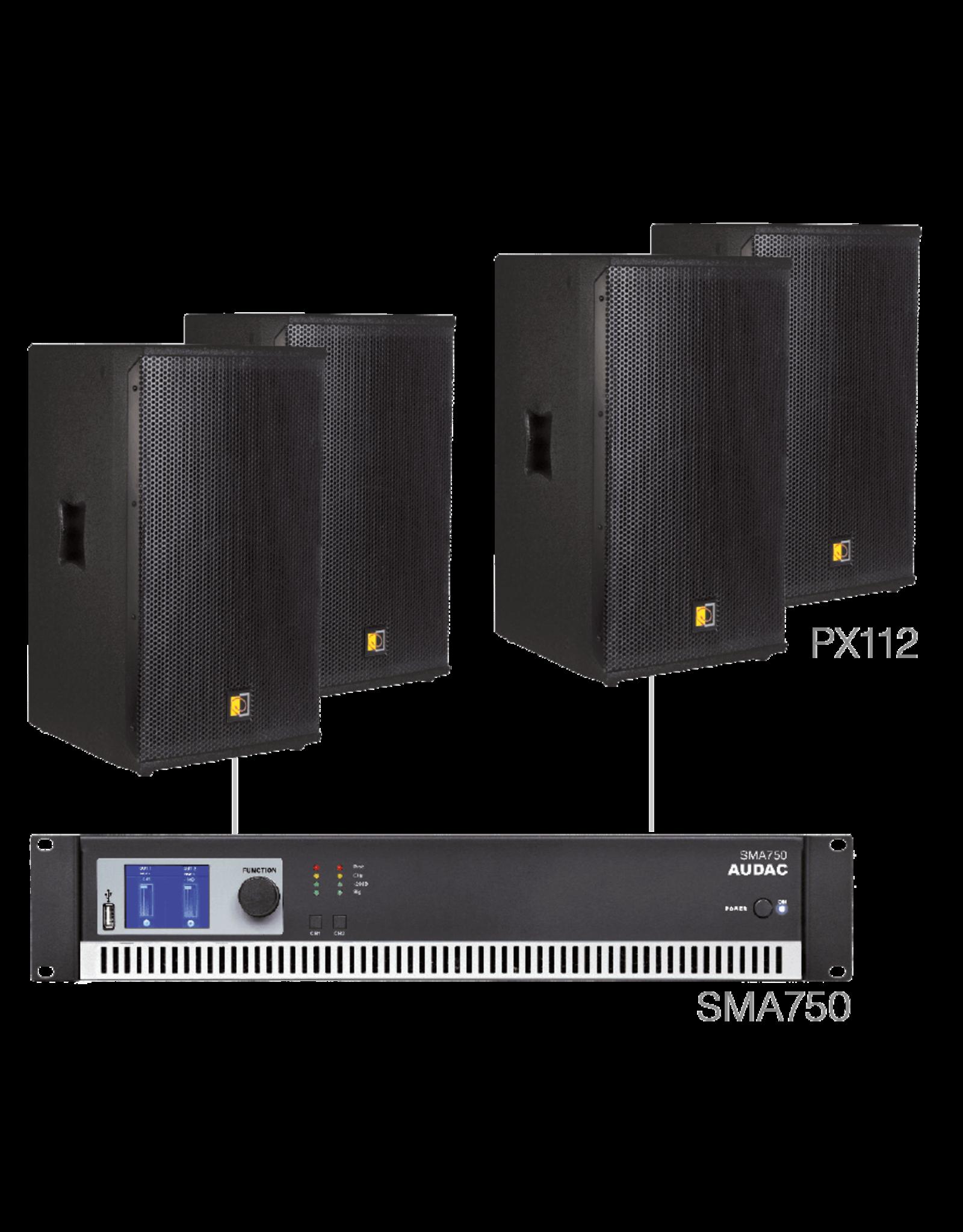 Audac 4 x PX112 + SMA750 Black version
