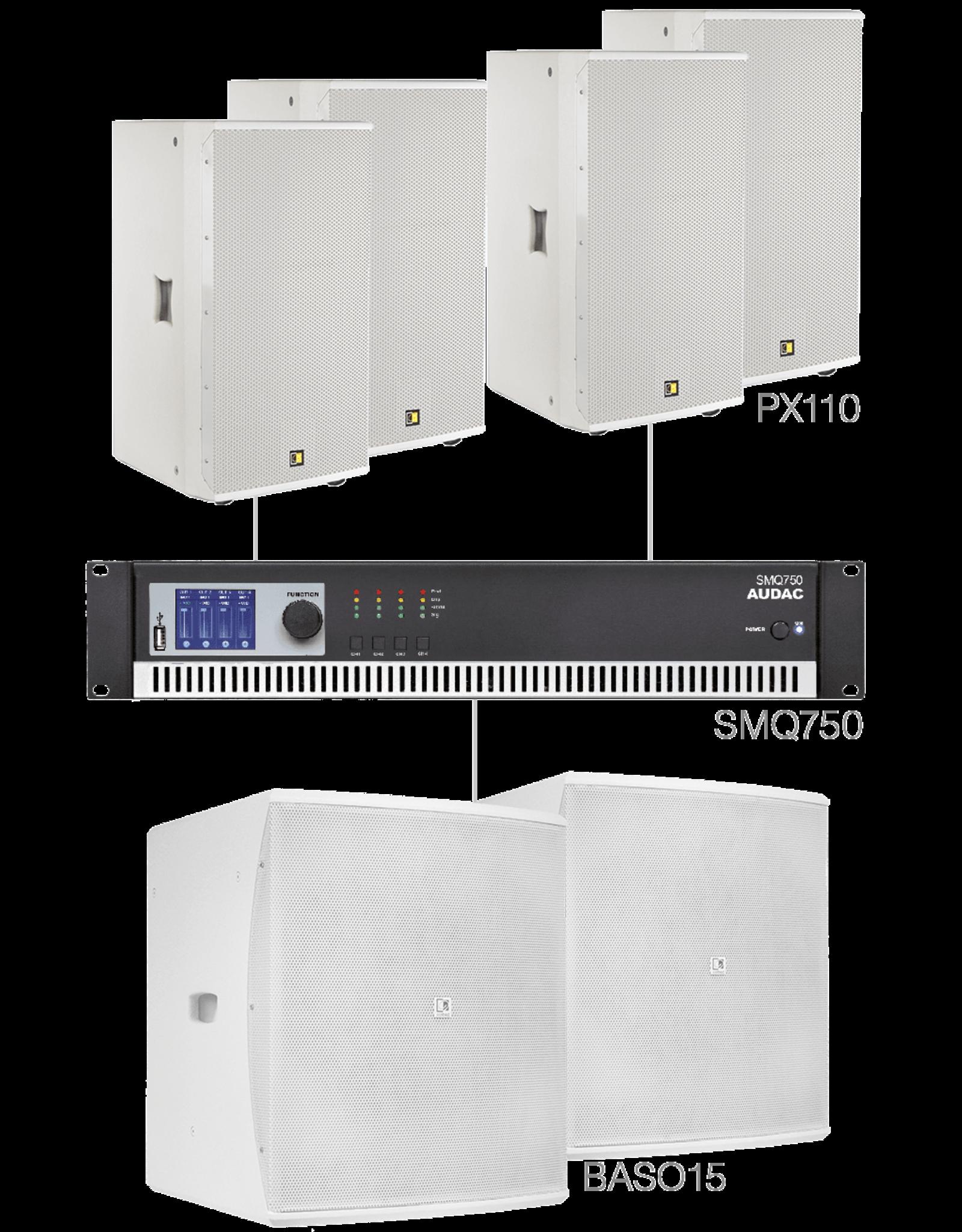 Audac 4 x PX110 + 2 x BASO15 + SMQ750 White version