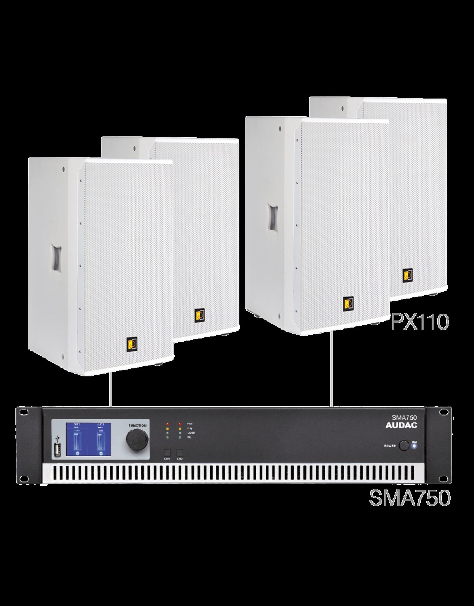 Audac 4 x PX110 + SMA750 White version