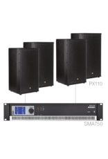 Audac 4 x PX110 + SMA750 Black version
