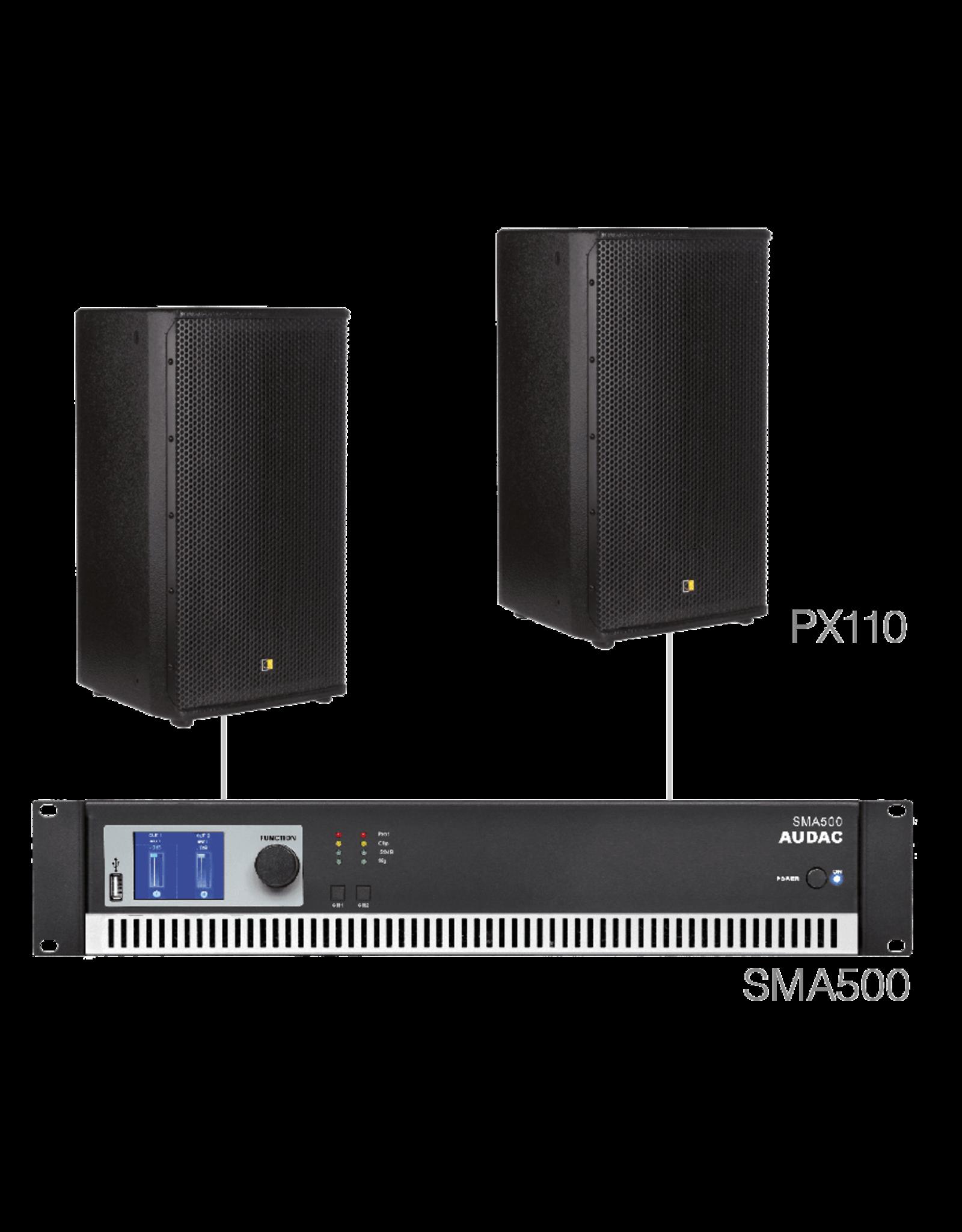 Audac 2 x PX110 + SMA500 Black version