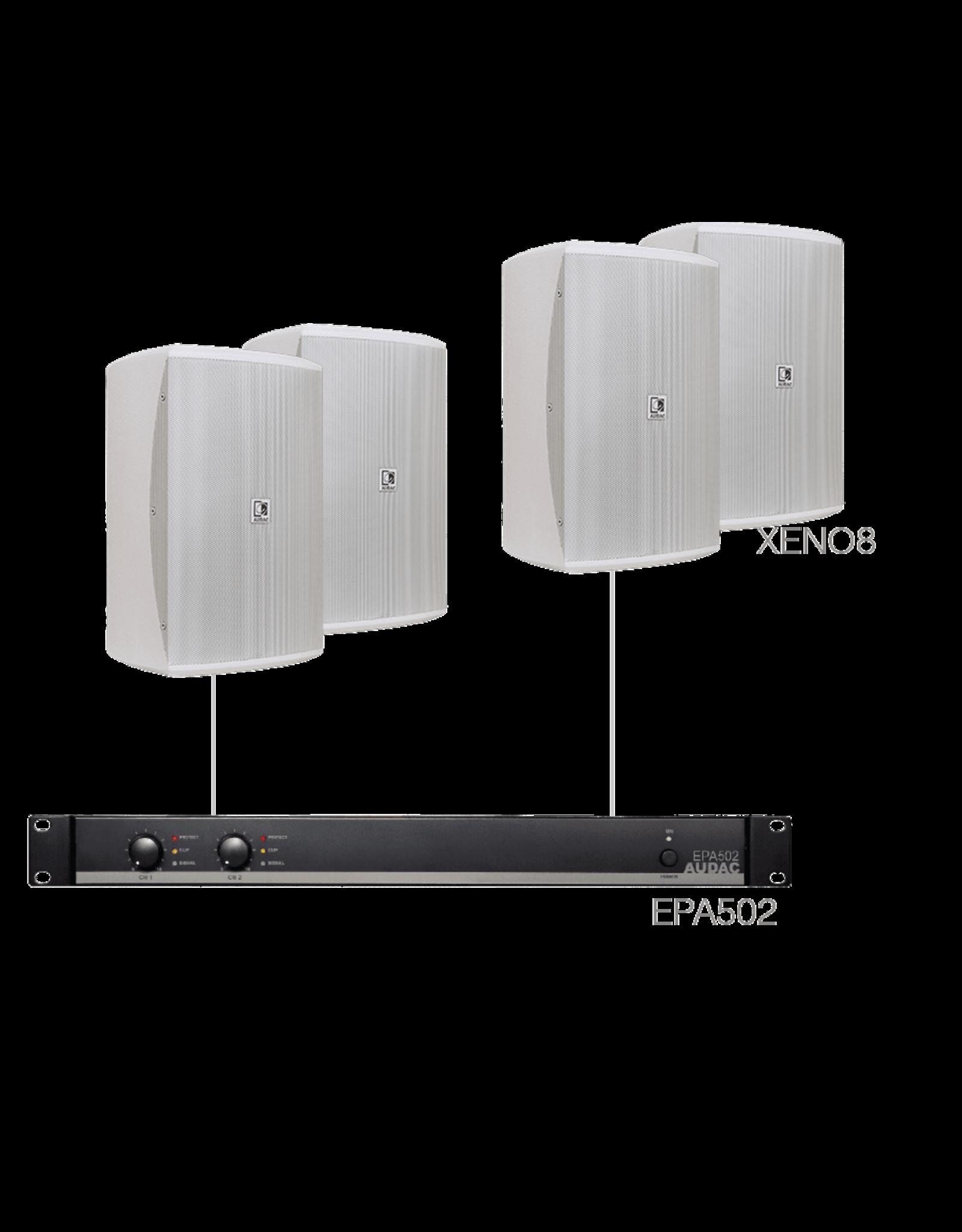 Audac 4 x XENO8 + EPA502 White