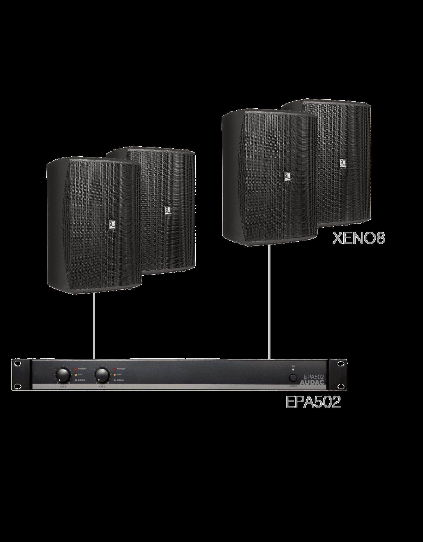 Audac 4 x XENO8 + EPA502 Black