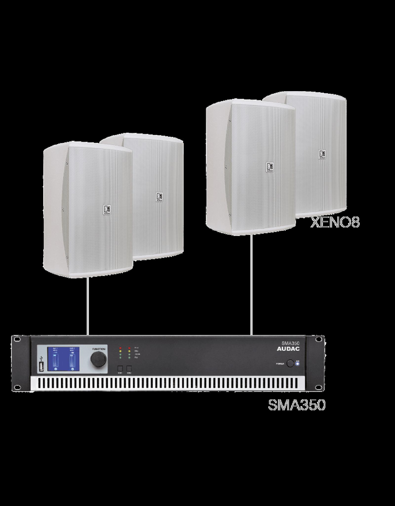 Audac 4 x XENO8 + SMA350 White version