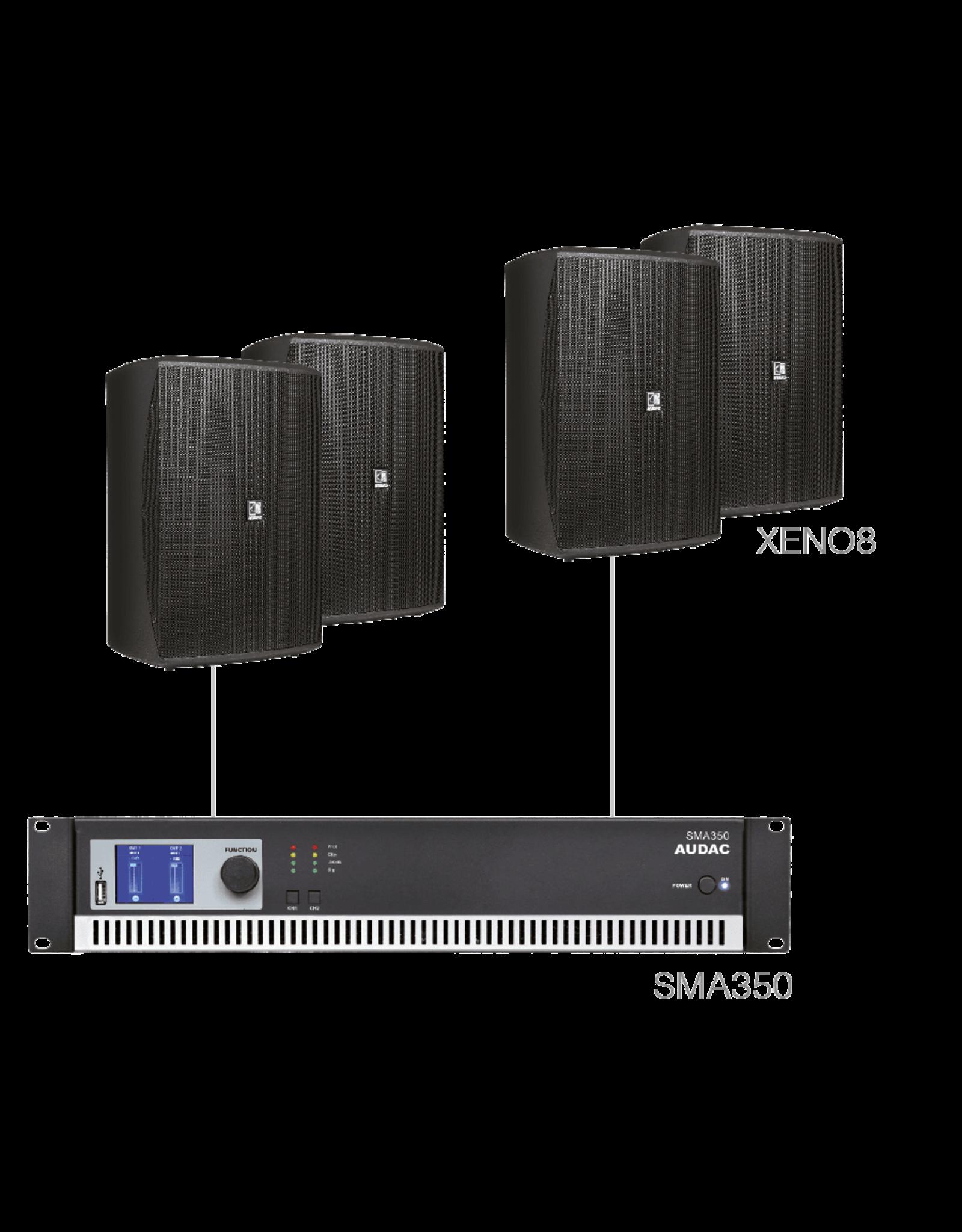 Audac 4 x XENO8 + SMA350 Black version