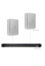 Audac 2 x XENO8 + EPA502 White
