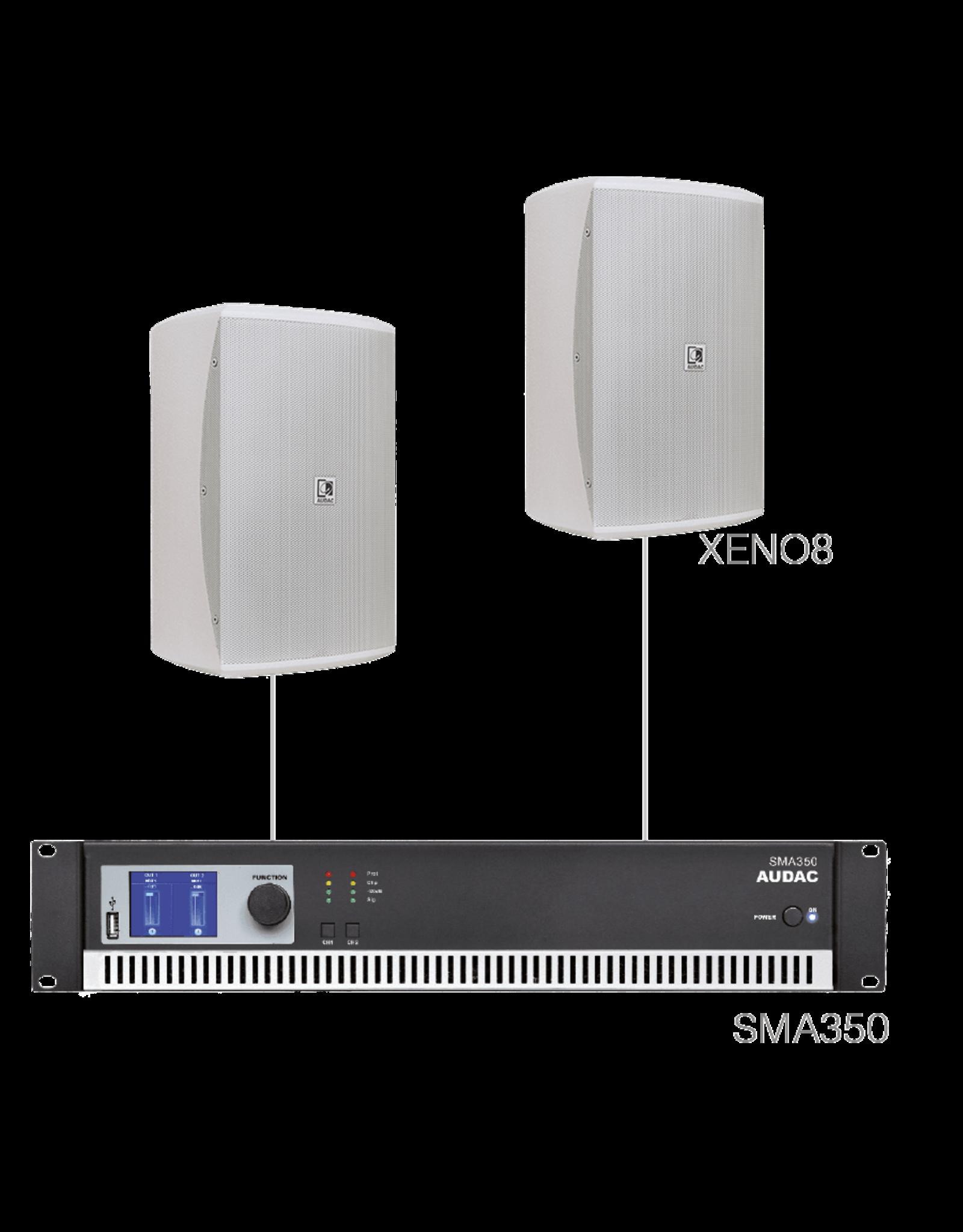 Audac 2 x XENO8 + SMA350 White version