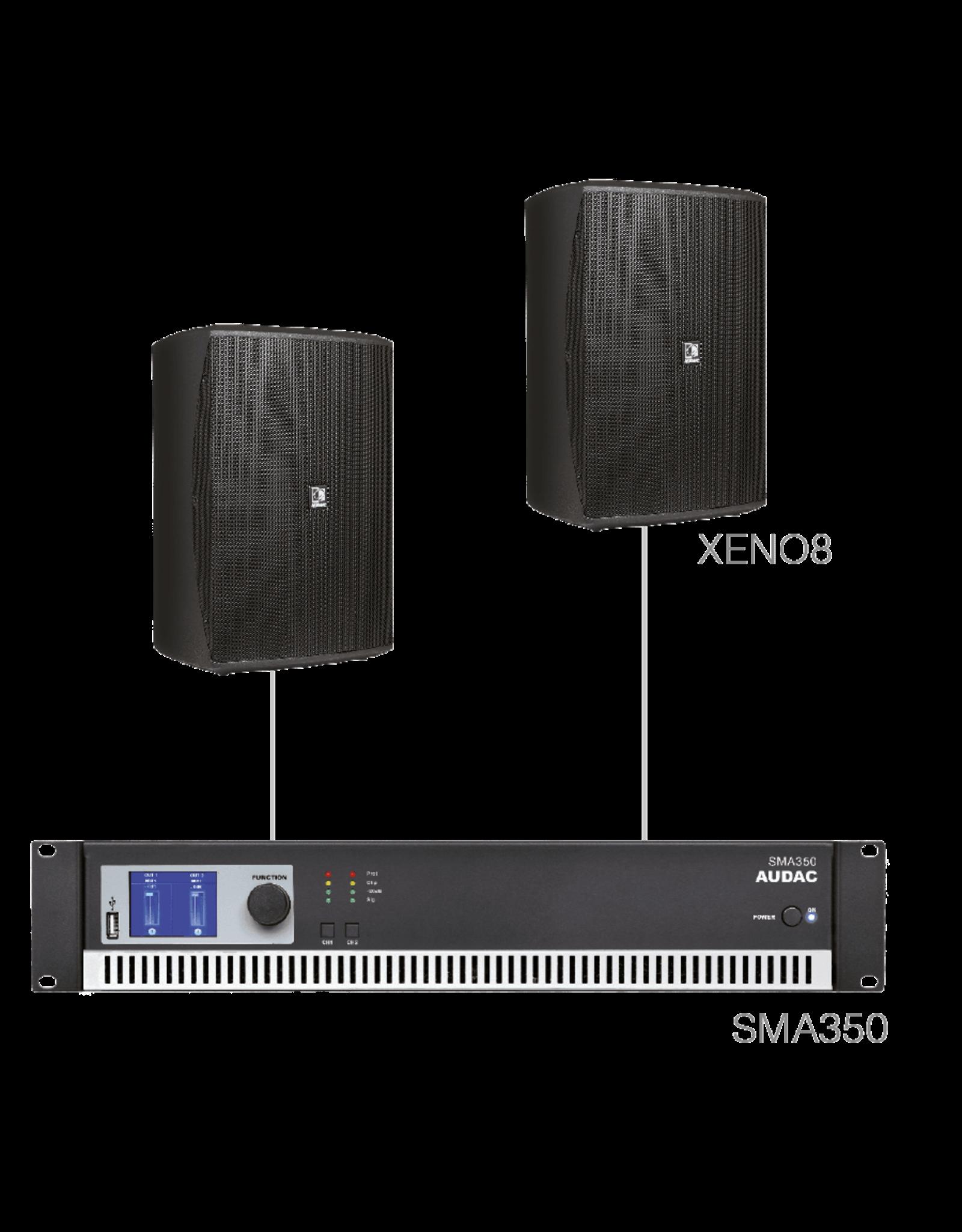 Audac 2 x XENO8 + SMA350 Black version