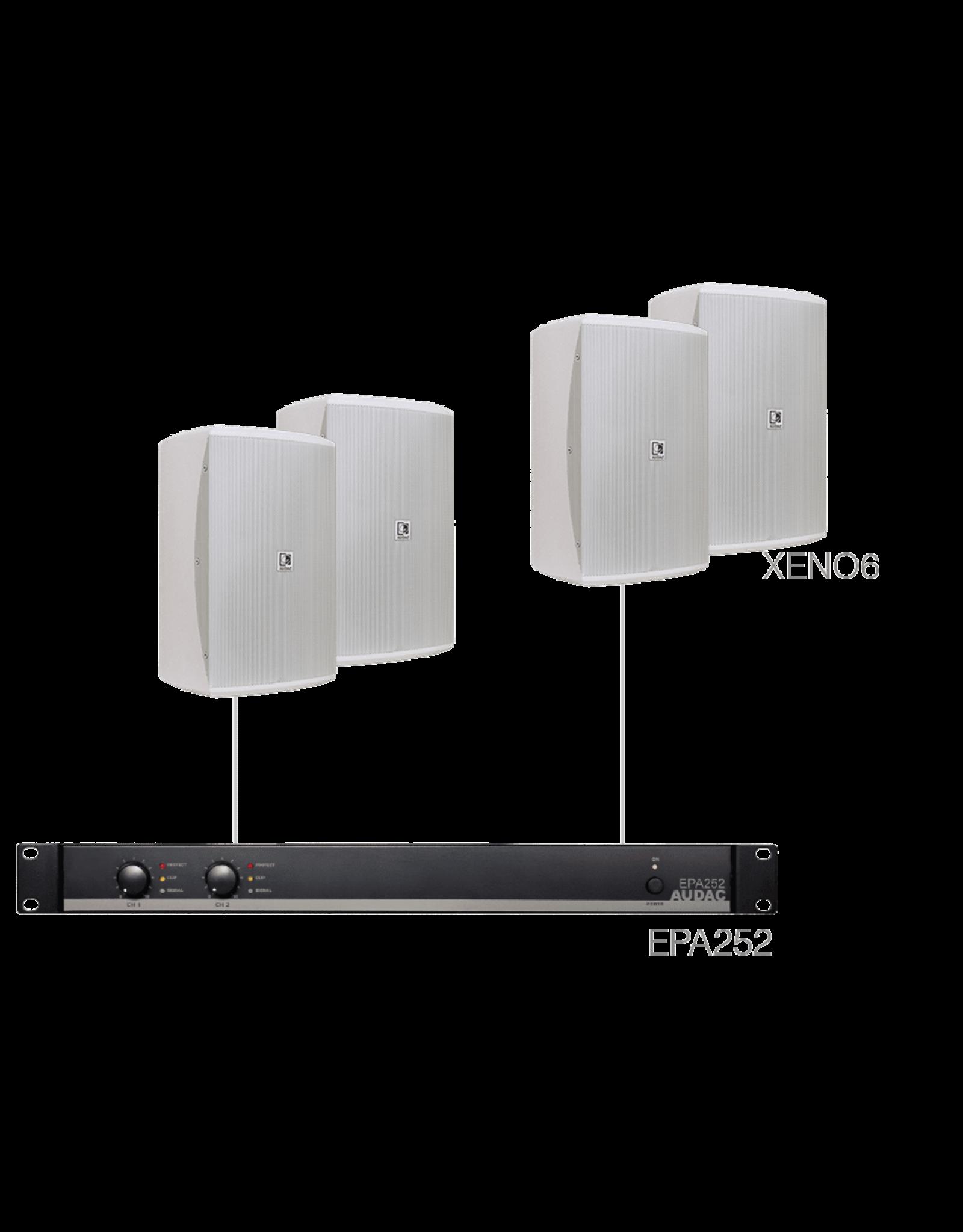 Audac 4 x XENO6 + EPA252 White