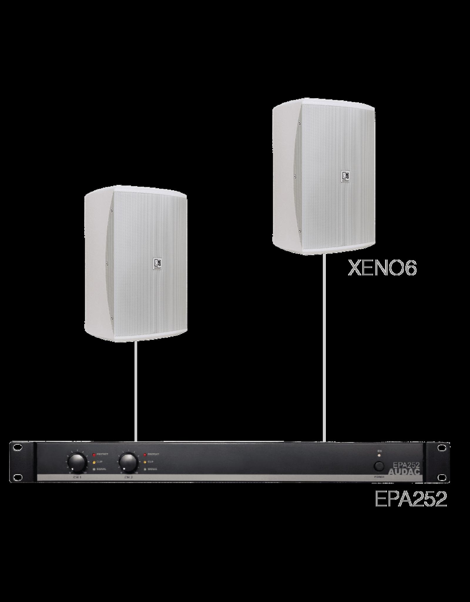Audac 2 x XENO6 + EPA252 White