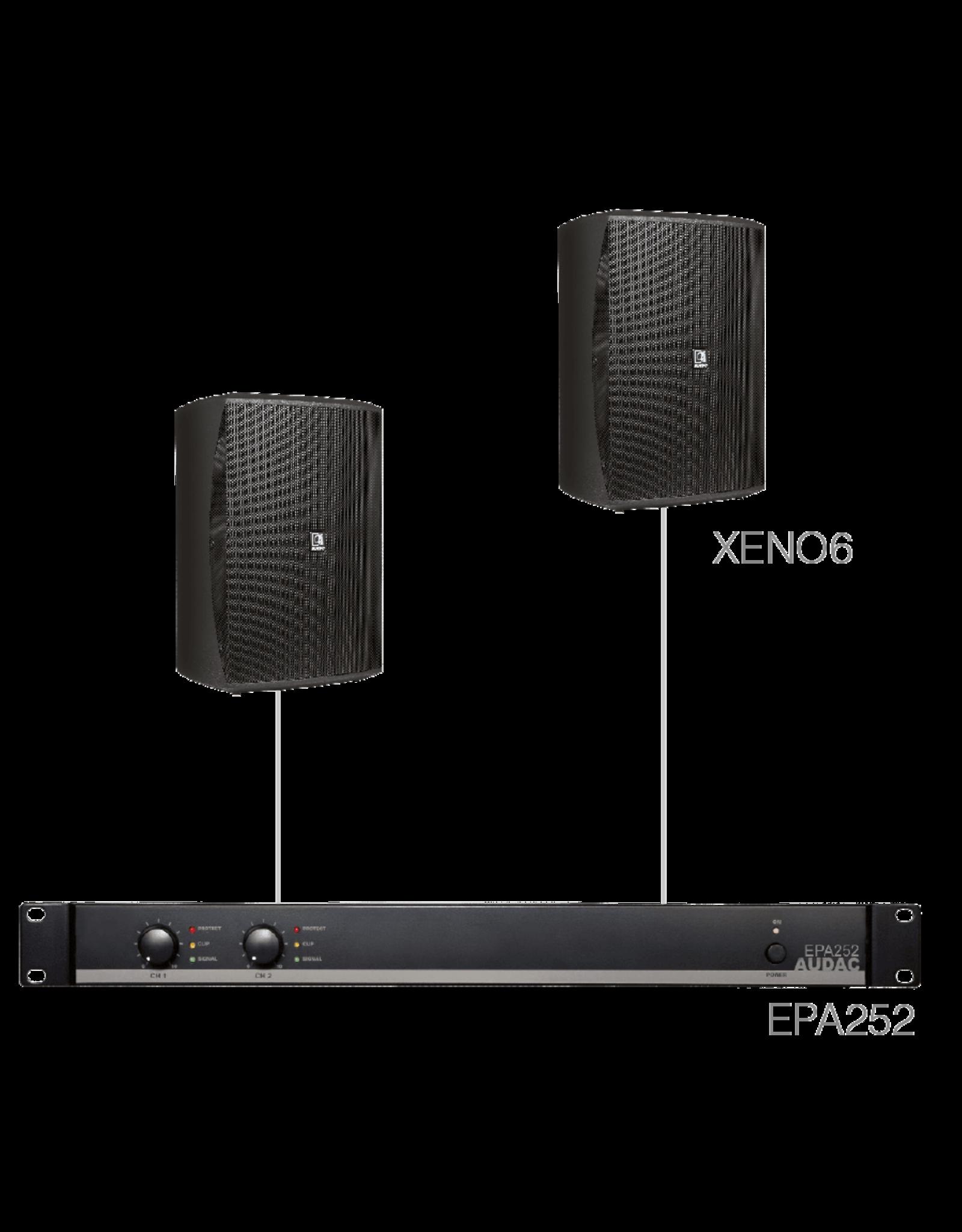 Audac 2 x XENO6 + EPA252 Black