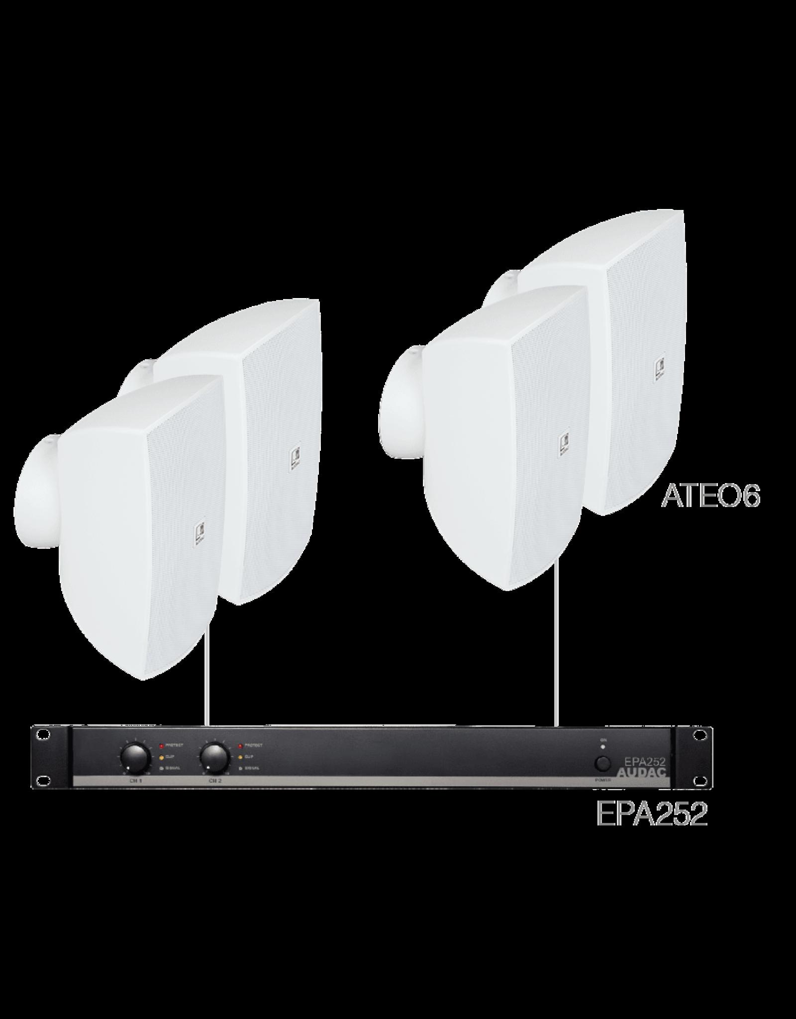 Audac 4 x ATEO6 + EPA252 White